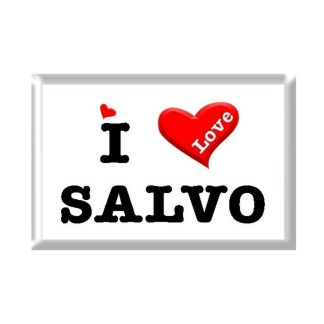 I Love SALVO rectangular refrigerator magnet