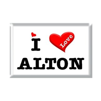 I Love ALTON rectangular refrigerator magnet