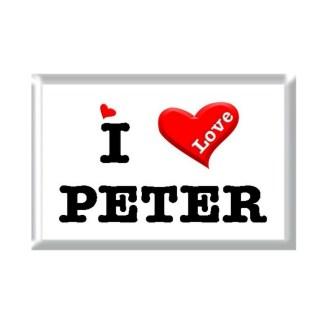 I Love PETER rectangular refrigerator magnet