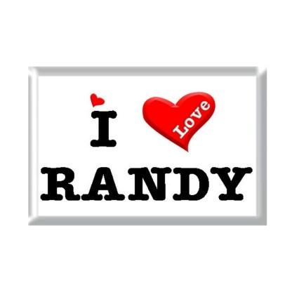 I Love RANDY rectangular refrigerator magnet