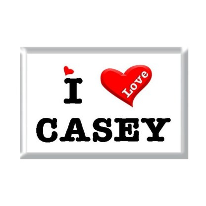 I Love CASEY rectangular refrigerator magnet