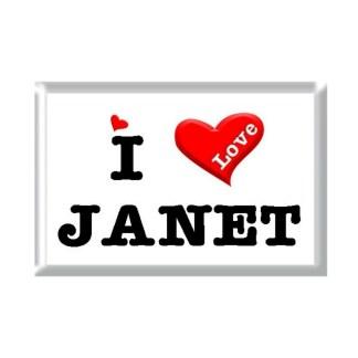I Love JANET rectangular refrigerator magnet