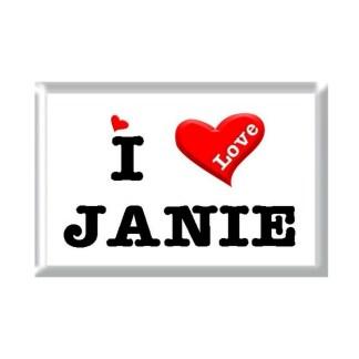 I Love JANIE rectangular refrigerator magnet