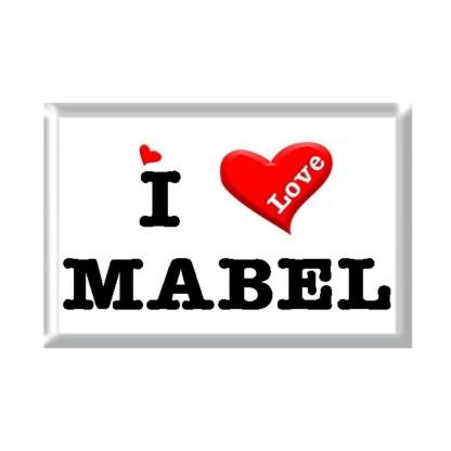 I Love MABEL rectangular refrigerator magnet