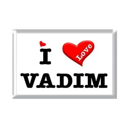 I Love VADIM rectangular refrigerator magnet