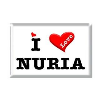 I Love NURIA rectangular refrigerator magnet