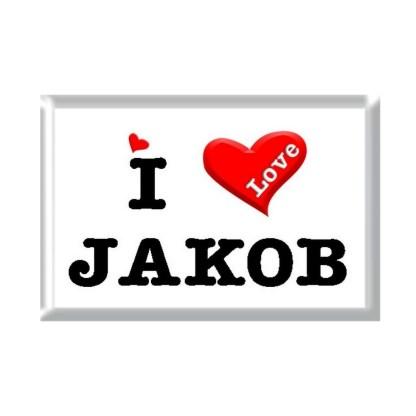 I Love JAKOB rectangular refrigerator magnet