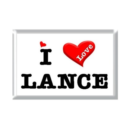 I Love LANCE rectangular refrigerator magnet