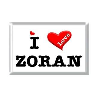 I Love ZORAN rectangular refrigerator magnet