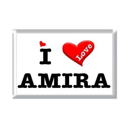 I Love AMIRA rectangular refrigerator magnet