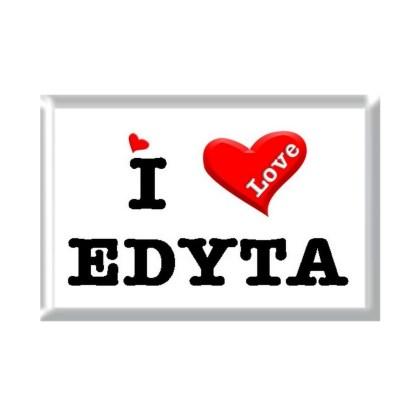 I Love EDYTA rectangular refrigerator magnet