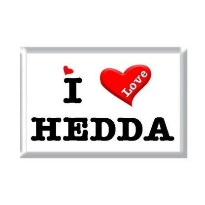 I Love HEDDA rectangular refrigerator magnet