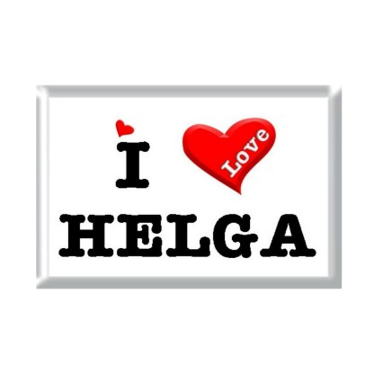 I Love HELGA rectangular refrigerator magnet