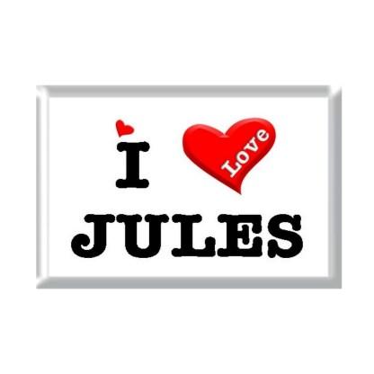 I Love JULES rectangular refrigerator magnet