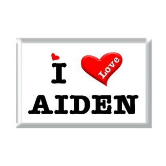 I Love AIDEN rectangular refrigerator magnet