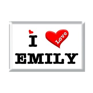 I Love EMILY rectangular refrigerator magnet