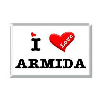 I Love ARMIDA rectangular refrigerator magnet