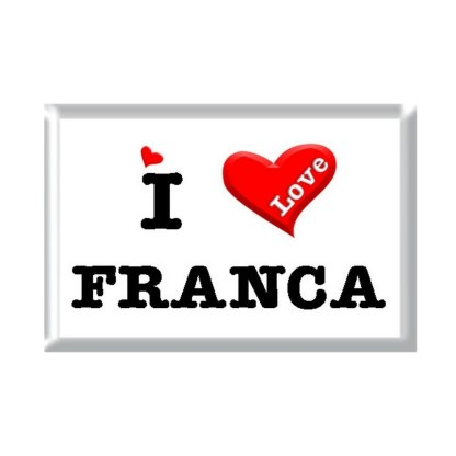 I Love FRANCA rectangular refrigerator magnet