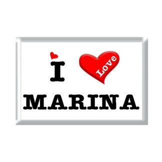 I Love MARINA rectangular refrigerator magnet