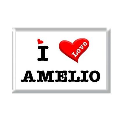 I Love AMELIO rectangular refrigerator magnet