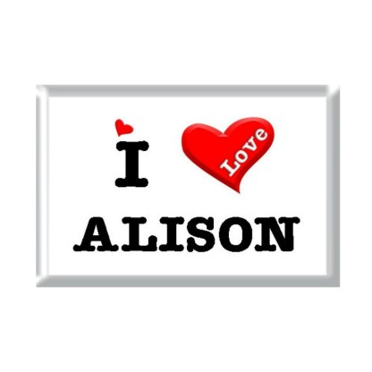 I Love ALISON rectangular refrigerator magnet