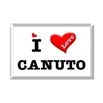 I Love CANUTO rectangular refrigerator magnet