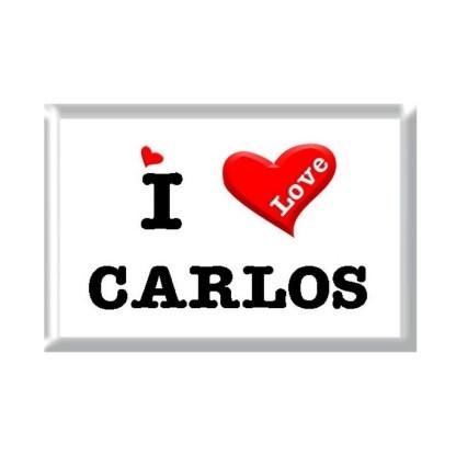 I Love CARLOS rectangular refrigerator magnet