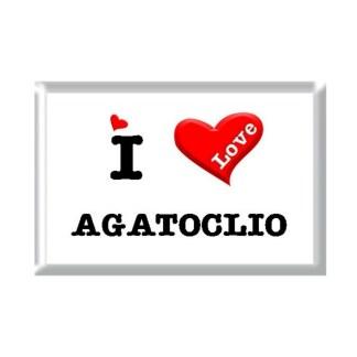 I Love AGATOCLIO rectangular refrigerator magnet
