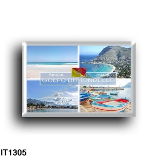 IT1305 Europe - Italy - Sicily - Gulf of Mondello - Panorama - Marina - View from above