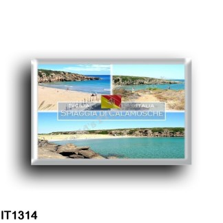 IT1314 Europe - Italy - Sicily - Calamosche Beach - Aerial View - Panorama - Vendicari Oasis