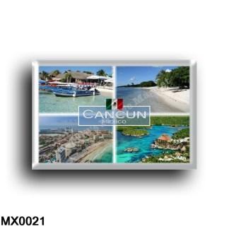 MX0021 America - Mexico - Cancun - Boats Isla Mujeres - Beach Isla Mujeres - Cancun Strand Luftbild - Xel Park