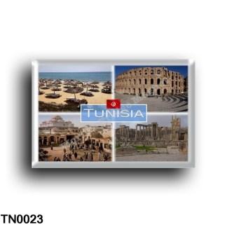 TN0023 Africa - Tunisia - Hammamet one of the main tourist destinations - Medina district of Tunis - Ruins of the world heritage