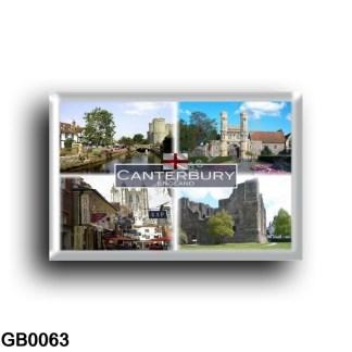 GB - Canterbury St Augustine s Abbey gateway - Cathedral - Castle - Butchery - Westgate Gardens - rectangular refrigerator magne
