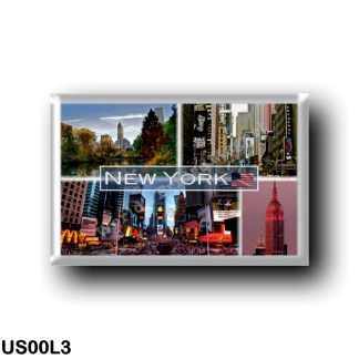 US00L3 America - United States - New York City - Central Park - Broadway Crowds - Time Square - Empire State