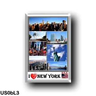 US0bL3 America - United States - New York City - I Love - Mosaic