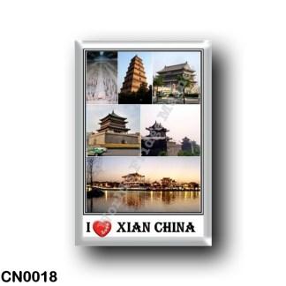 CN0018 Asia - China - Xi'an China - Giant Wild Goose Pagoda - Xian Terracotta Warrios Museum - Drum Tower of Xi'an - Bell Tower