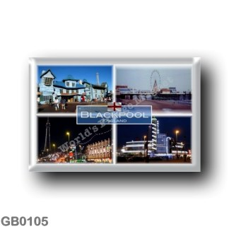 GB0105 Europe - England - Blackpool - Pleasure Beach - Illuminations on Blackpool Promenade - The Casino at ight