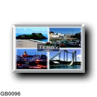 GB0096 Europe - Wales - Tenby - Harbor - Oakwood Theme Park - Beach - Panorama