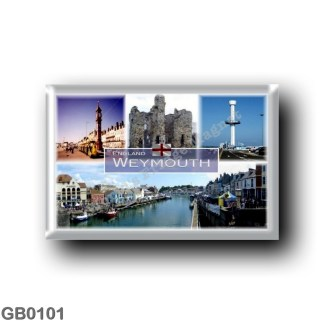 GB0101 Europe - England - Weymouth - Queen Victoria's Jubilee Clock - Seafood festival in Weymouth - Jurassic Skyline tower - Sa