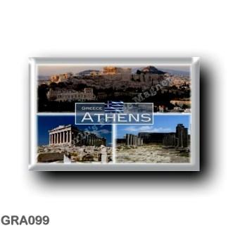 GRA099 Europe - Greece - Athens - Acropolis - Panorama - Ruines - Monastiraki square