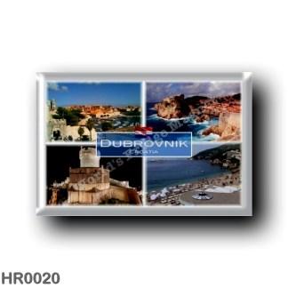 HR0020 Europe - Croatia - Dubrovnik - Medieval fortresses - Lovrijenac & Bokar - Banje beach - Panorama - Sea View