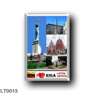 LT0013 Europe - Lithuania - Riga Latvia Lietuva - I Lova Mosaic - The Freedom Monument - The Riba City - Council Building