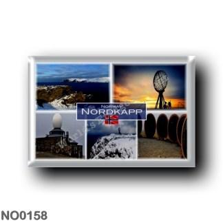 """NO0158 Europe - Norway - Nordkapp North Cape Norway - Kirkeporten - Globe Sculpture - Children of the World"""" Sculptures - Panora"""