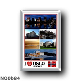NO0b84 Europe - Norway - I Love Mosaic - Skyline At night - Harbour - Panorama - The New Opera House - Oslofjiord