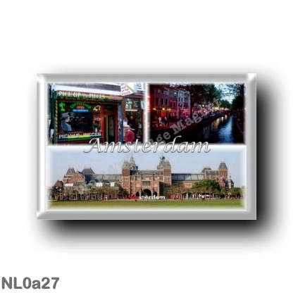 NL0a27 Europe - Holland - Amsterdam Holland - Cannabis Coffee Shop - Red Light District - Rijksmuseum