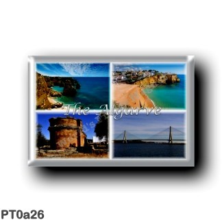 PT0a26 Europe - Portugal - The Algarve - Panorama - Sea view - Carvoeiro - Roman ruins