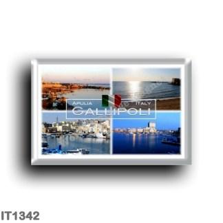 IT1342 Europe - Italy - Puglia - Gallipoli - Salento - Harbor - Beach - Panorama - Lecce