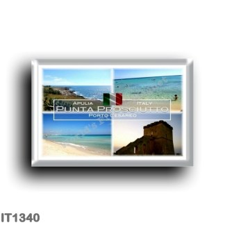 IT1340 Europe - Italy - Puglia - Punta Prosciutto - Porto Cesareo - Salento - Lecce - Ionic Sea - Beach - Lapillo Tower - Panor