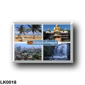 LK0018 Asia - Sri Lanka - Negombo Beach - The Golden Buddha Statue, Dambulla Golden Temple - Colombo City - Dunsiane Waterfall
