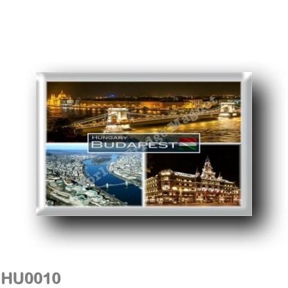HU0010 Europe - Hungary - Budapest - New York Palace - Margaret Island - Széchenyi Chain Bridge